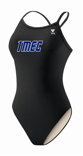 Girls Team Suit – TYR Black Solid Diamondfit