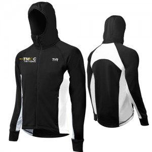 Team Male Warmup Jacket TYR Alliance Victory in Black-White