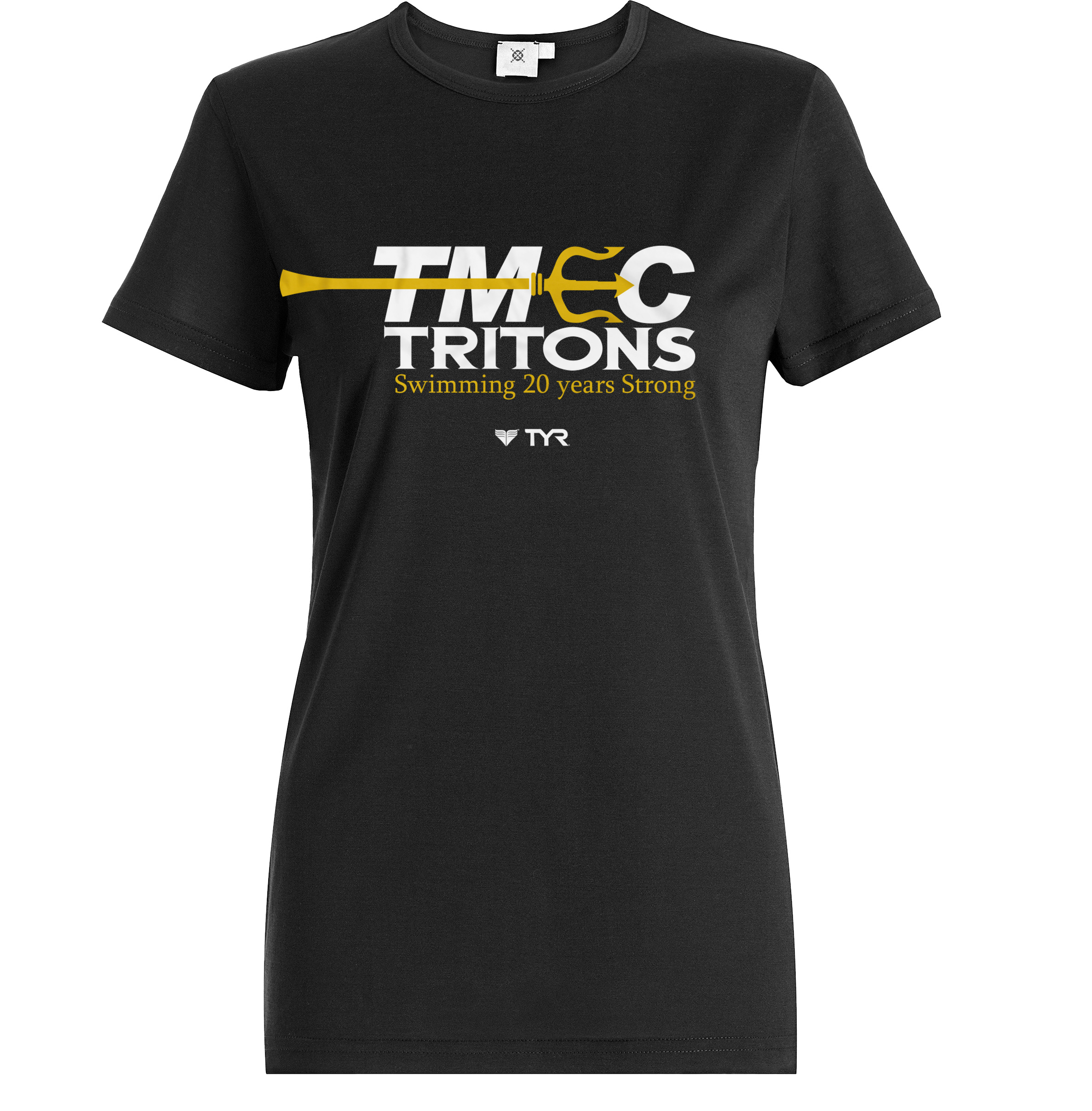 TMEC Women V-Neck Team Shirt in Black