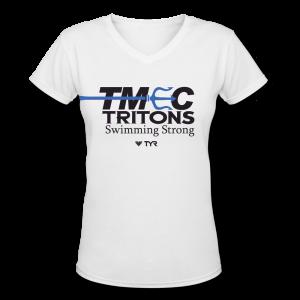 TMEC Women Team V-neck Shirt in White