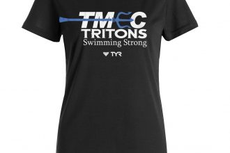 District Made – TMEC Women V-Neck Team Shirt in Black
