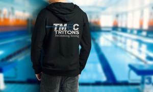 TMEC Zip-up Sweatshirt in Black