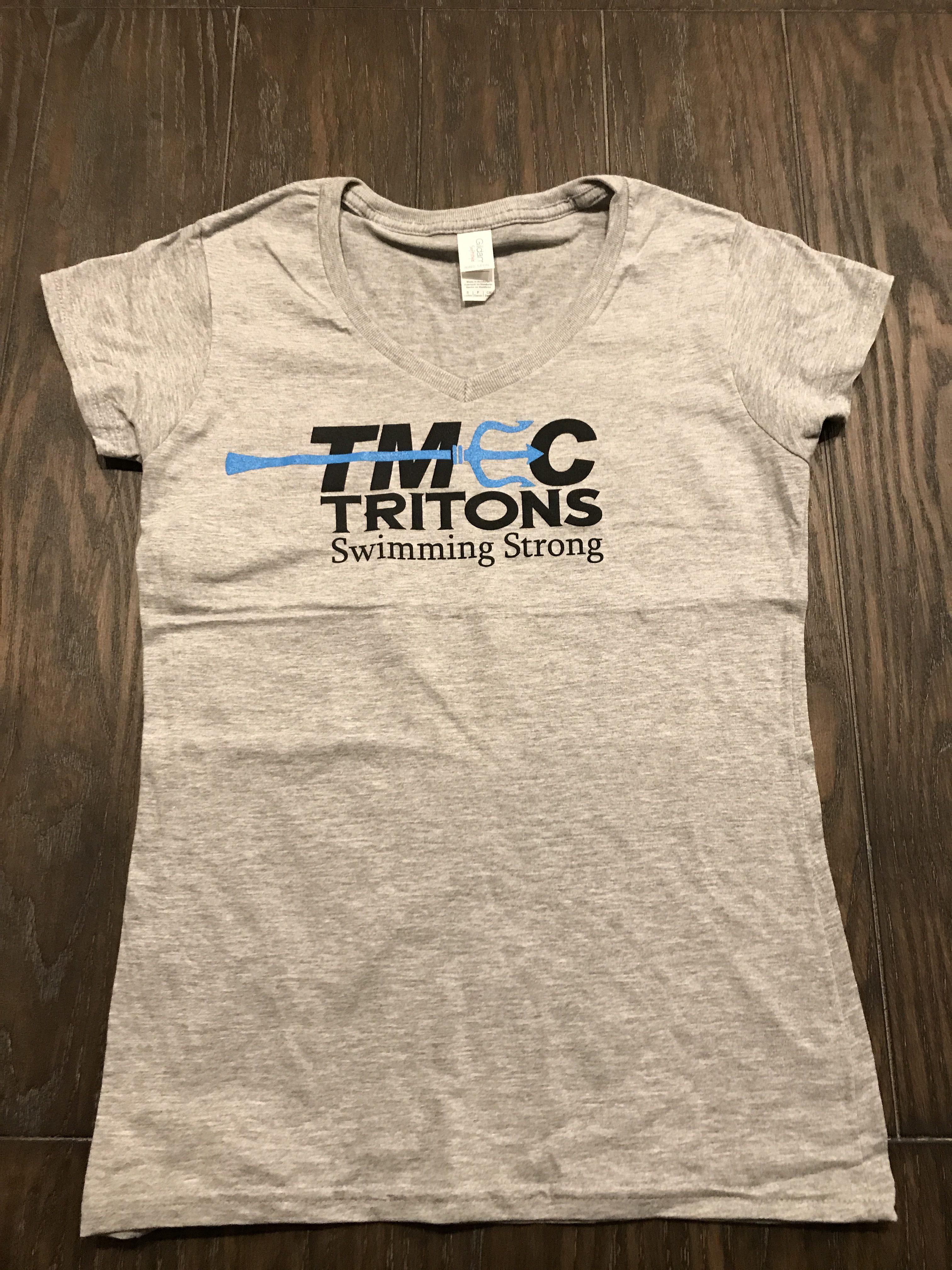 TMEC Women V-Neck Team Shirt in Sports Grey