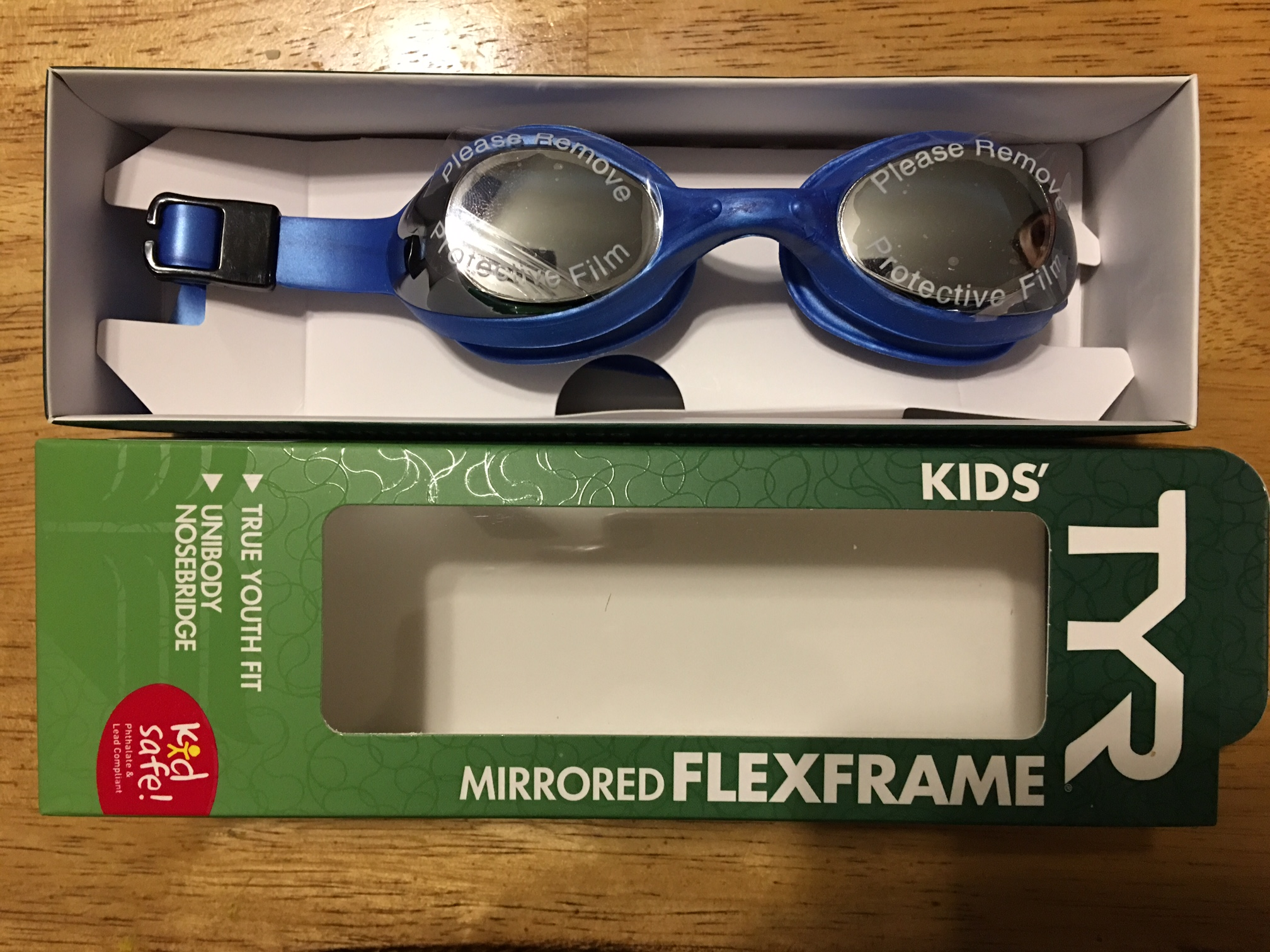 TYR Mirrored Flexframe Goggles (Kids)