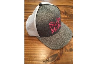 Hat – Swim Mom Grey and Pink Adjustable