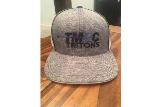 Hat – TMEC SWIM Grey and Blue Adjustable Mesh