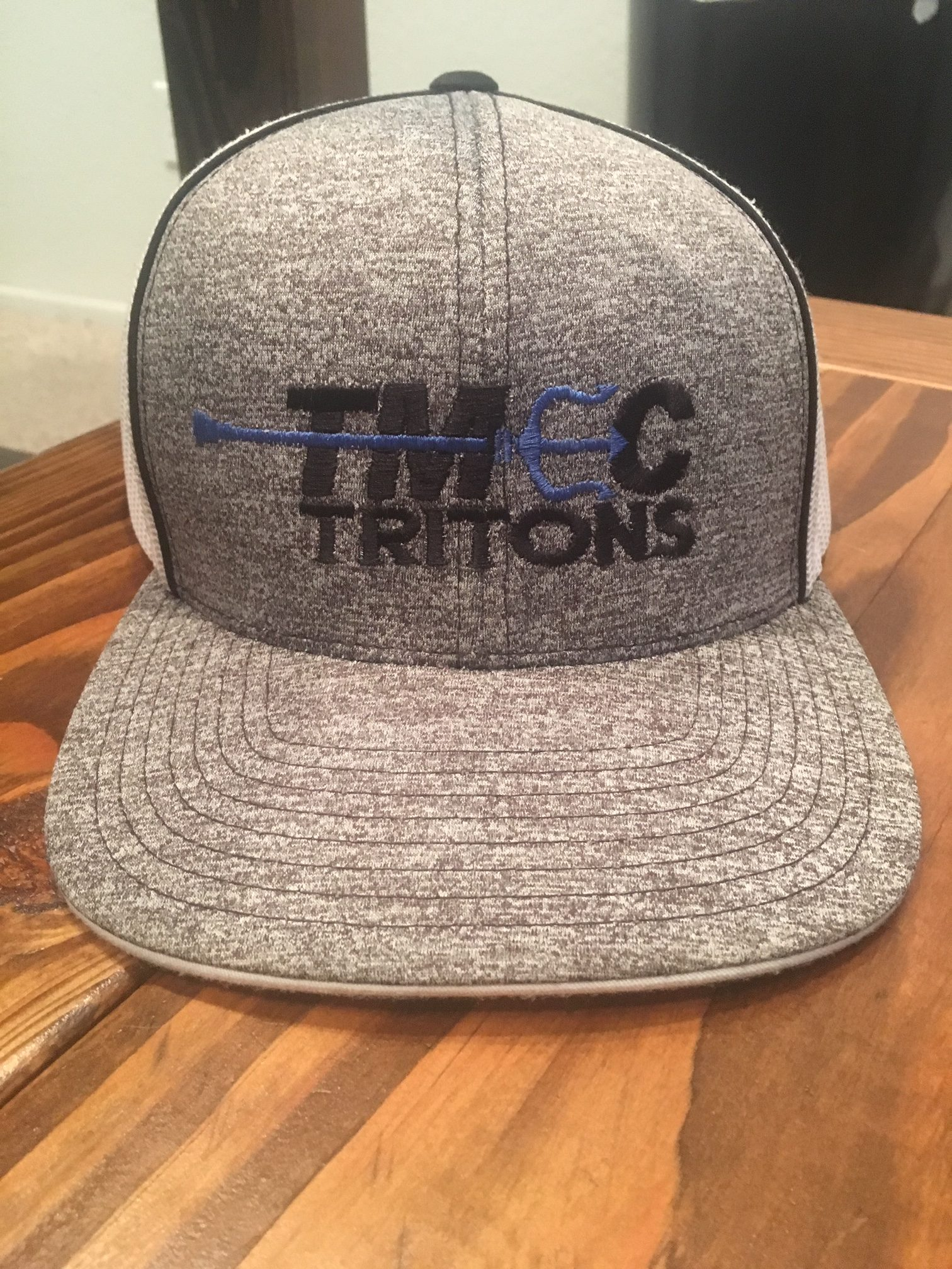 Hat – TMEC SWIM Grey and Blue Adjustable Mesh