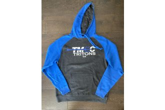 Independent Trading Company Blue & Gray Hoodie Sweatshirt